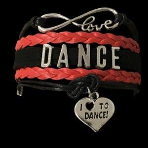 Girls Dance Bracelet - Red & Black